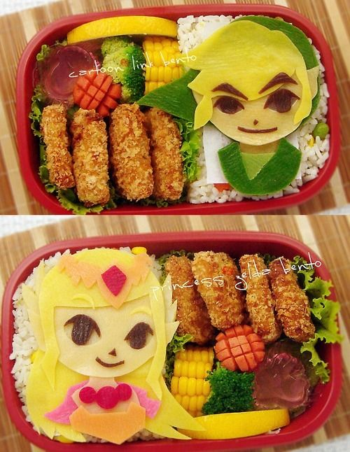 The Legend Of Zelda Bento Geekery Legend Of Zelda Bento Food Humor
