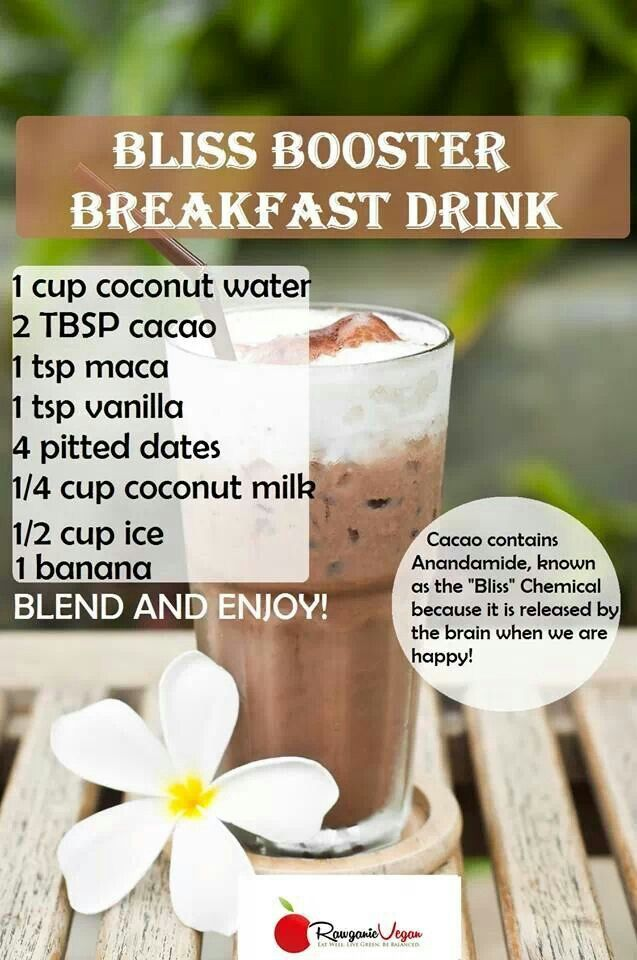 Bliss booster breakfast smoothie