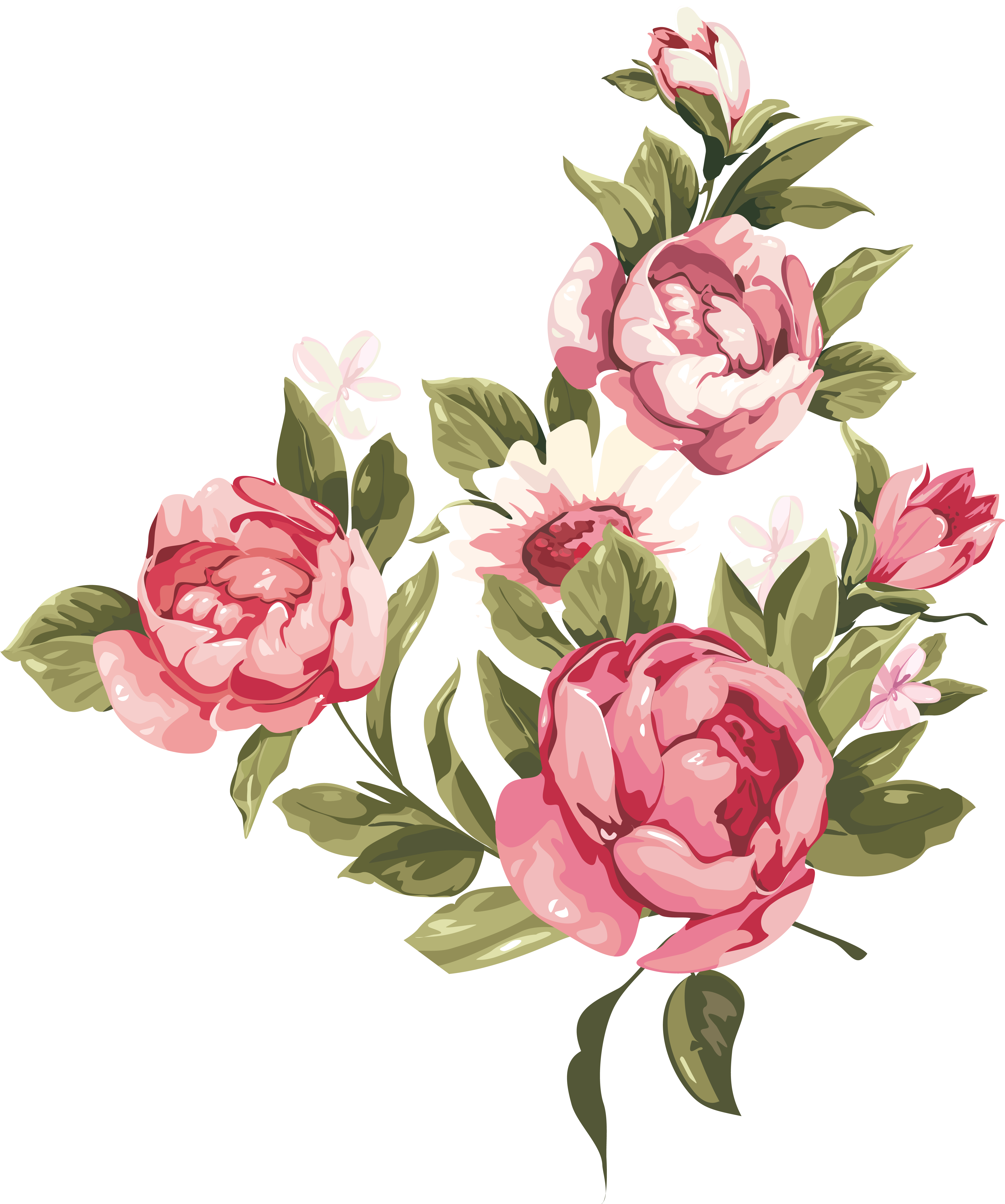 Transparent Old Fashioned Floral Png