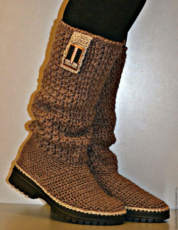 """Купить Сапожки осенние """"Корица"""" - коричневый, обувь ручной работы, обувь, обувь на заказ"""
