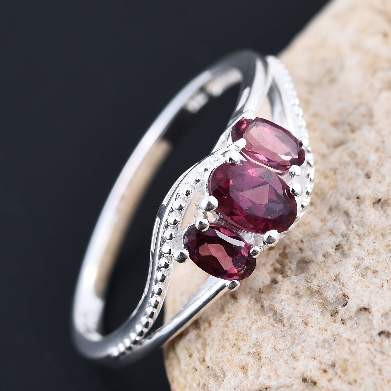 cut garnet diamond engagement details ring rings ori emerald rhodolite