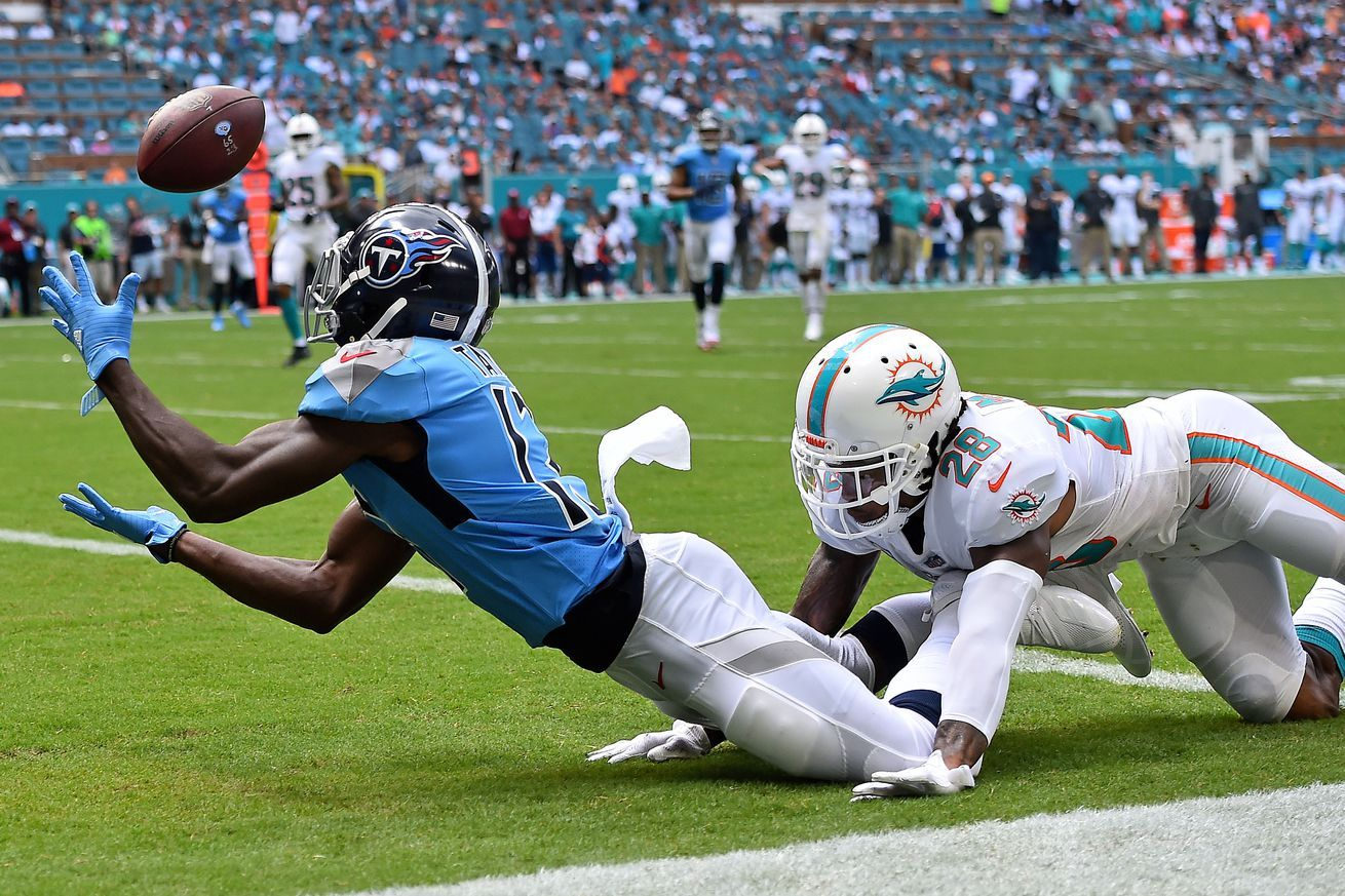 Dolphins vs. Titans in a lightning delay just before the