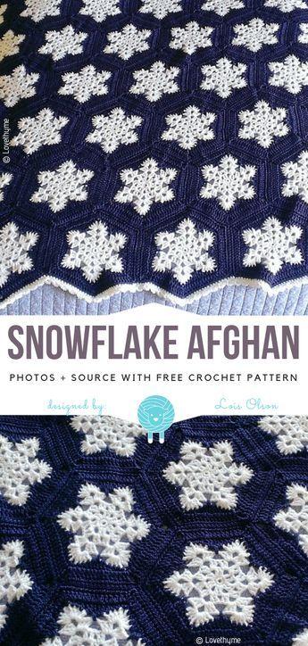 Snowflake Afghan Free Crochet Pattern Hæklerier Pinterest