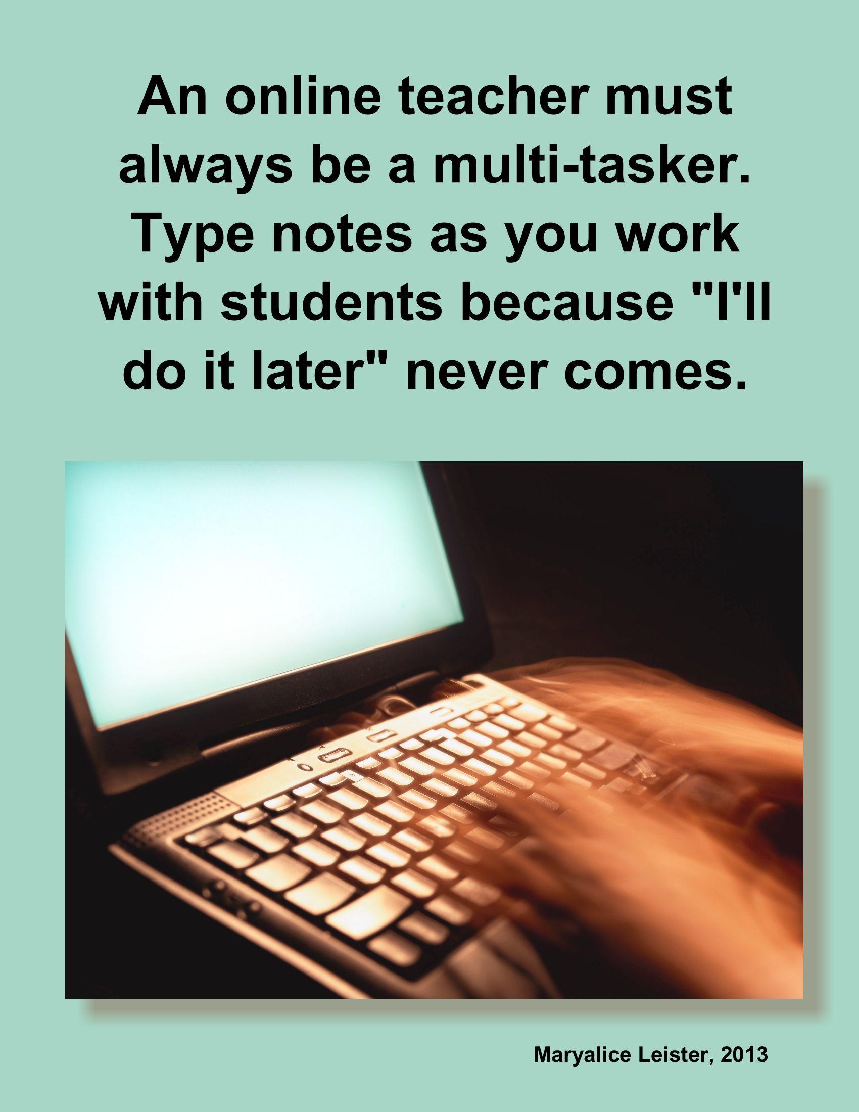 Words of wisdom for K-12 online educator - share! #online ...