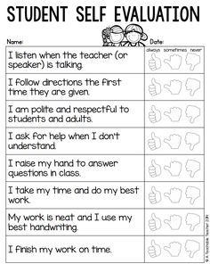 Attractive Parent Teacher Conference Forms From A Teachable Teacher.pdf · Student Self  EvaluationParent ...