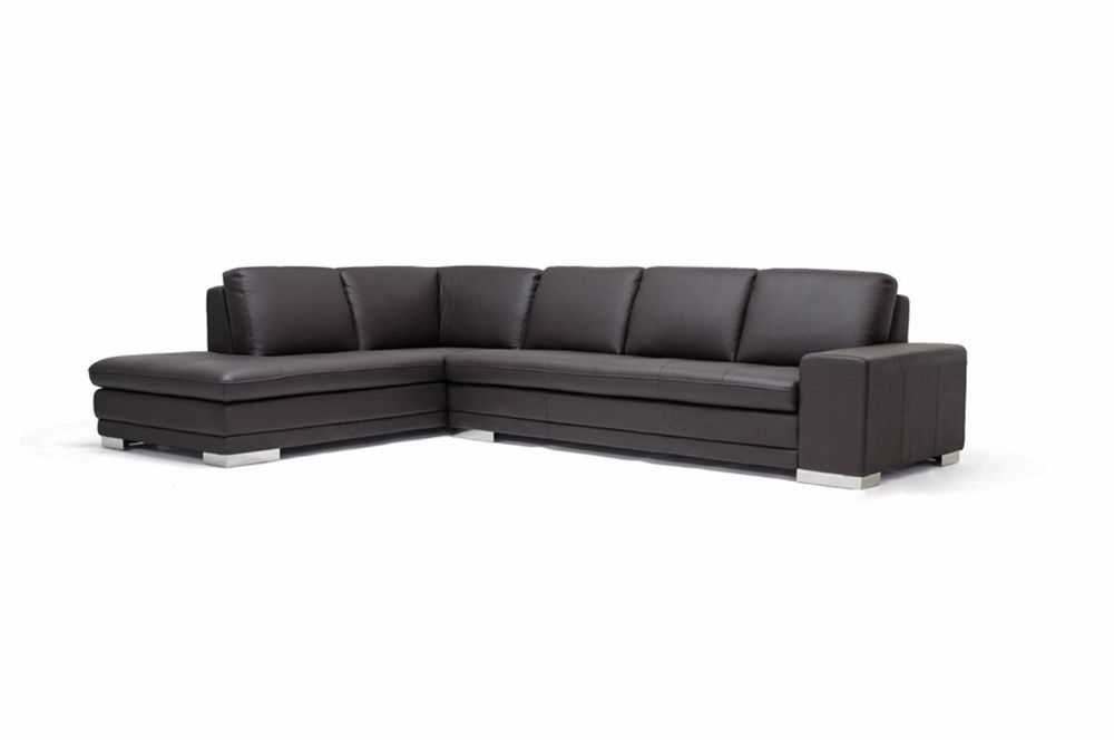 Callidora Brown Leather Sectional Sofa with Left Facing Chaise | Affordable Modern Furniture in Chicago  sc 1 st  Pinterest : left facing chaise sectional sofa - Sectionals, Sofas & Couches