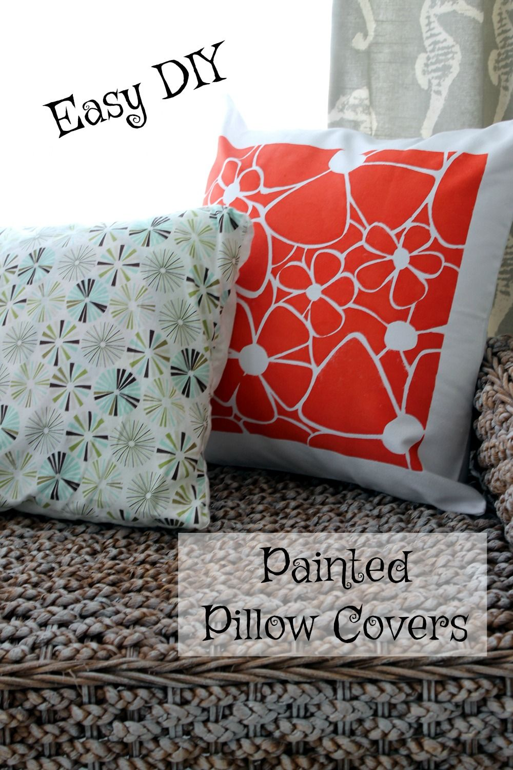 This Easy DIY Painted Pillow Cover Is A Fun Craft Project To Spruce Up Your  Home