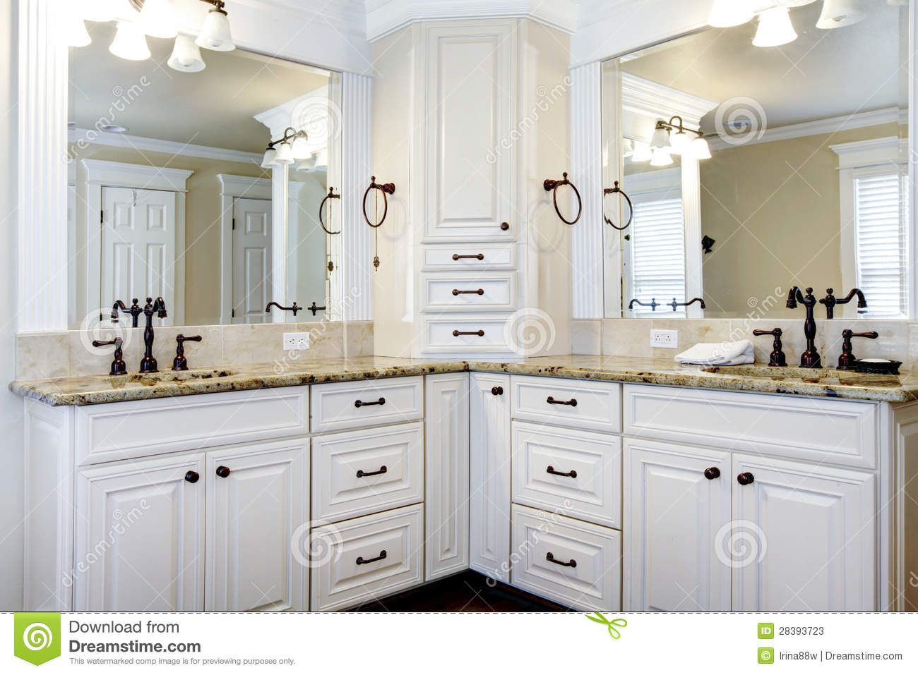 bathroom cabinets | Luxury large white master bathroom cabinets with ...