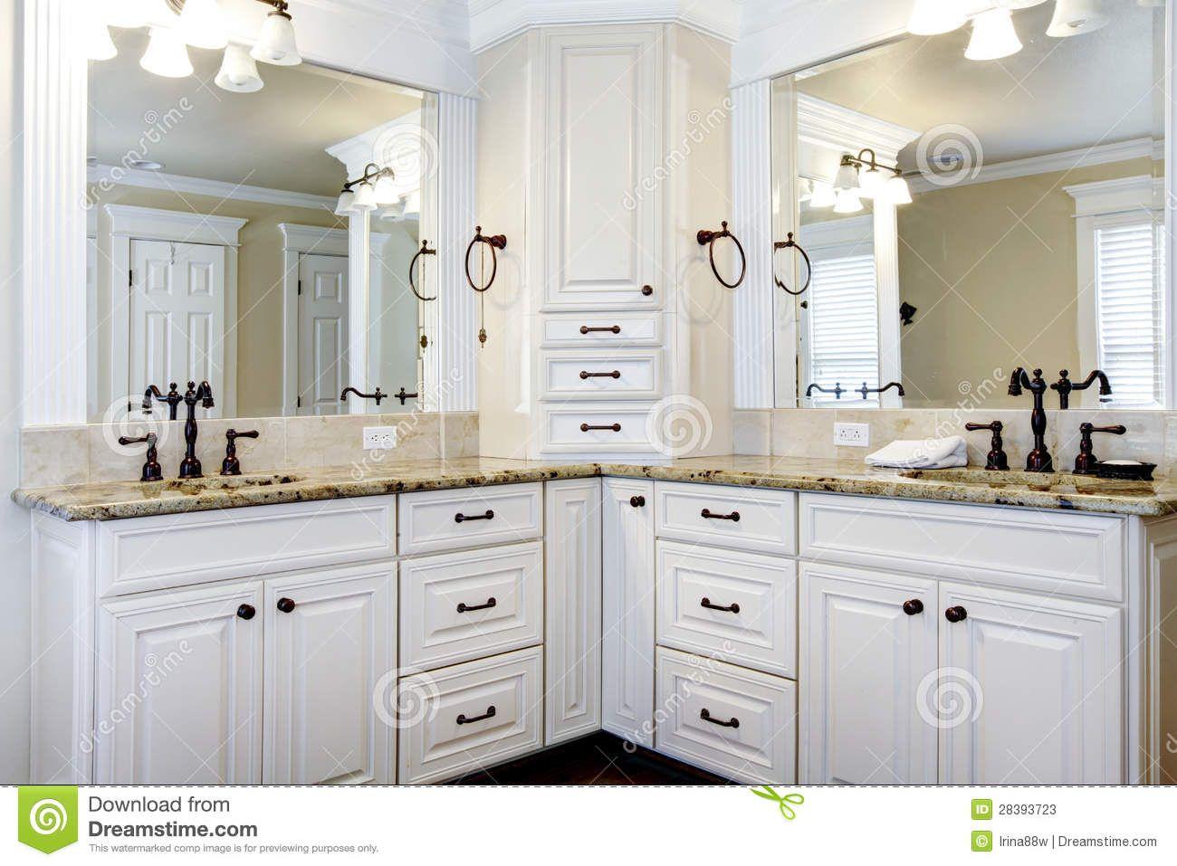 Bathroom Cabinets  Luxury Large White Master Bathroom Cabinets Awesome Bathroom Vanities Luxury 2018