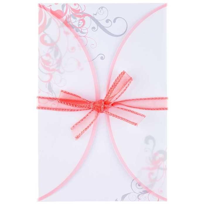 Coral swirl vellum jacket wedding invitations invitations coral swirl vellum jacket wedding invitations stopboris Image collections