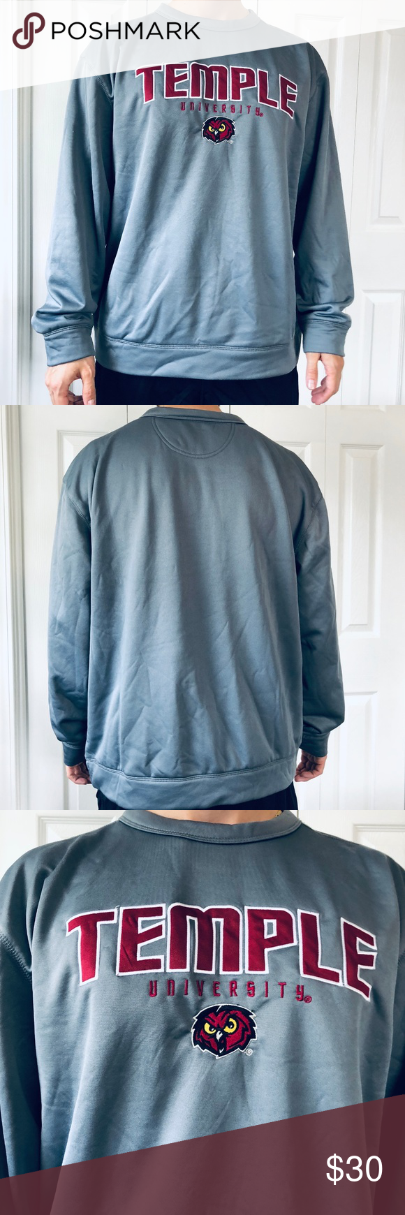 Champion Temple University Pullover Sweatshirt L Sweatshirt Shirt Champion Shirts Clothes Design [ 1740 x 580 Pixel ]