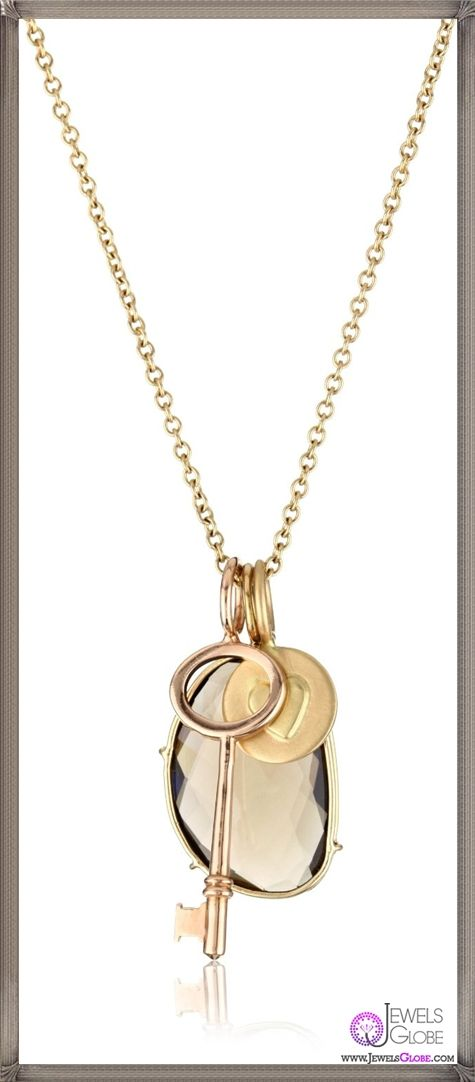 Heather B. Moore Harriet 14k Yellow Gold Pendant Necklace