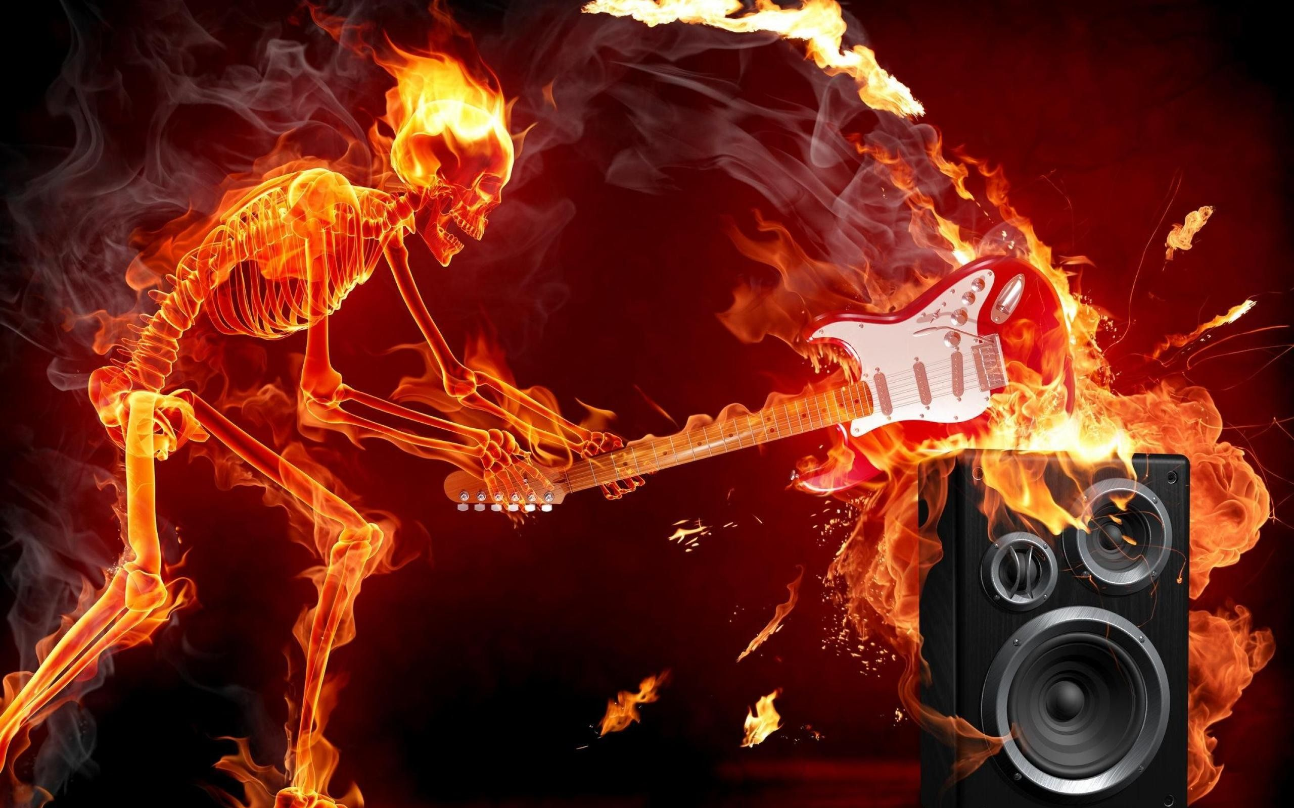 Rock Guitar Images Son Rock Guitare Feu Musique Amateurs Fond D 233 Cran 2560x1600 Fond D