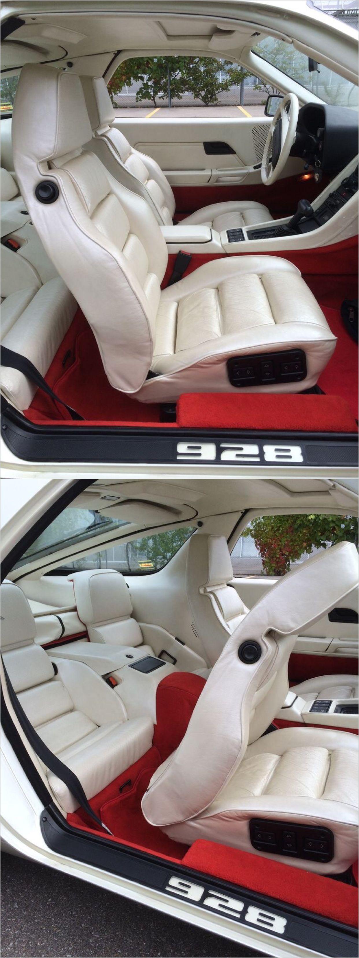 1983 Porsche 928s Interior Of Pearl White Car Custom Car