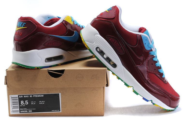 fashionable nike air max 90 online white brown blue women shoes wholesale at big discount
