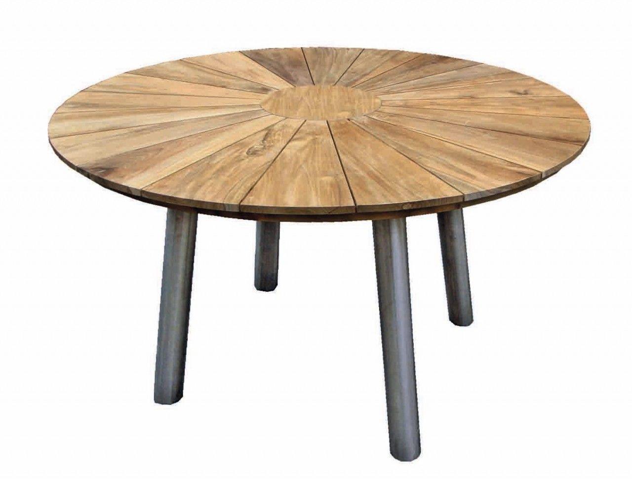 Casamia Garten Tisch Fjord Rund Aus Teakholz Mit Edelstahl Gestell Exklusive Mobel Gartentisch Rund Holz Teakholz Tisch Teak