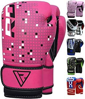 RDX Kids Boxing Gloves Maya Hide Leather 4oz 6oz Junior Punch Bag MMA Training Muay Thai Mitts #spor...
