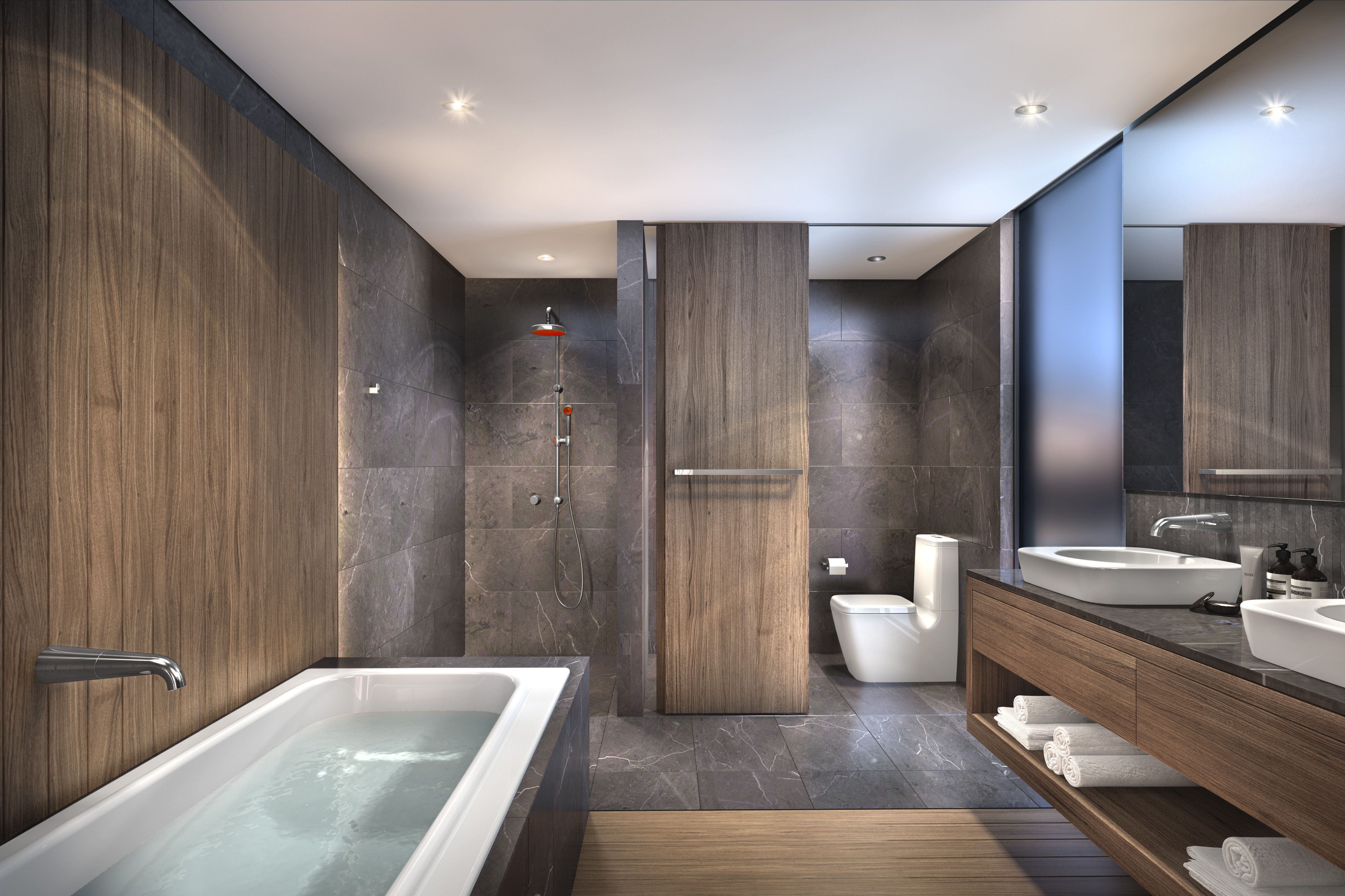 Caroma Luxury Hotel Bathroom  Luxury hotel bathroom, Lake house