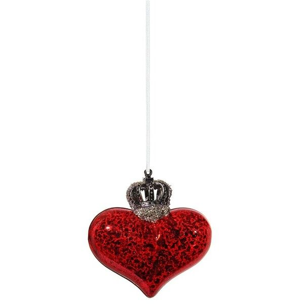 Shishi As Crowned Heart Small Christmas Ornament 13 Liked On Polyvore Featuring Home