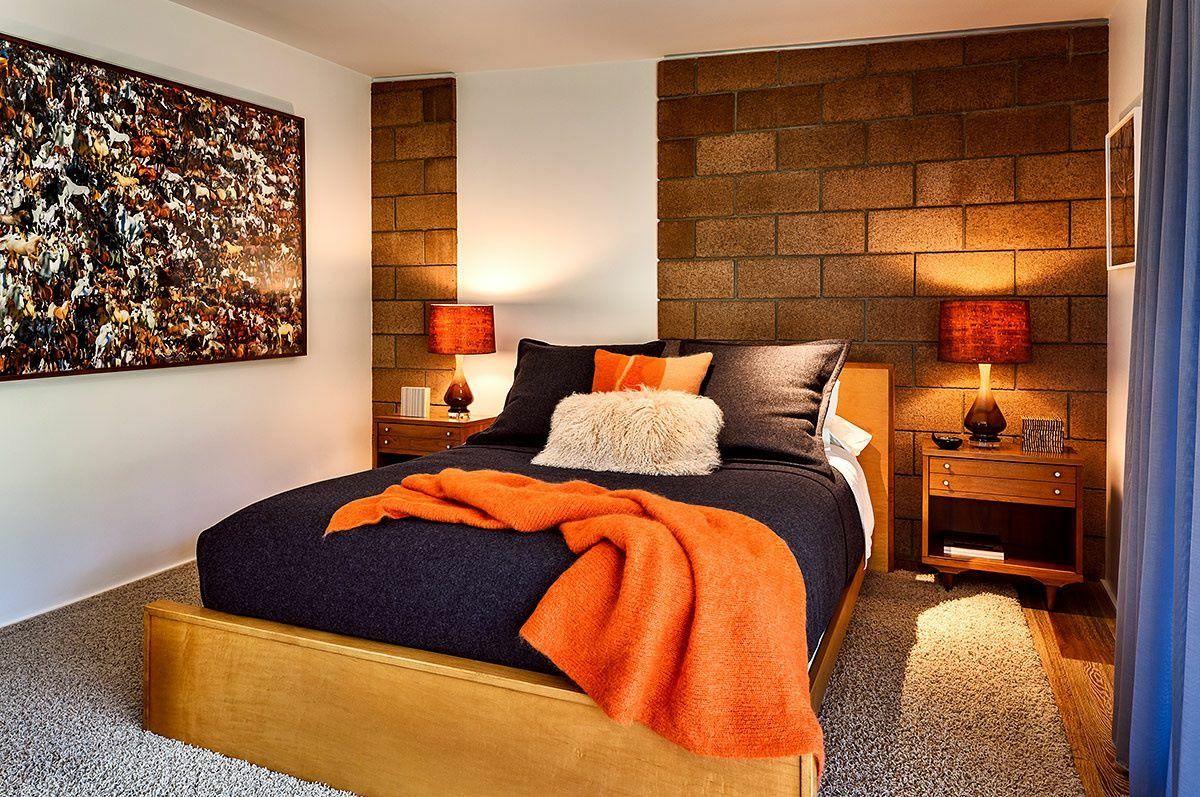 Textiles en Diseño de Interiores. Piecera de cama y cojines con texturas.