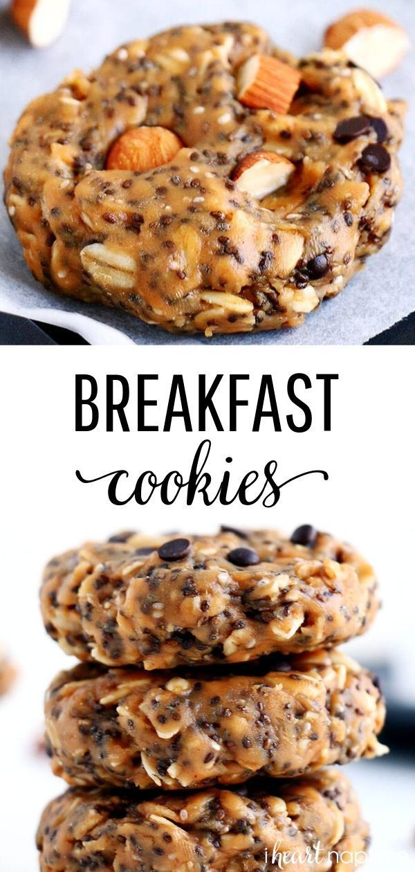 #breakfast #Cookies #Easy #Healthy Recipes Snacks Savoury #Heart #mins #Naptime #NoBake #Prep These No-Bake Breakfast Cookies are easy to make, healthy, packed with protein and simply delicious. They can be whipped up in less than 5 minutes and stored for up to two weeks. #breakfast #breakfastrecipes #breakfastideas