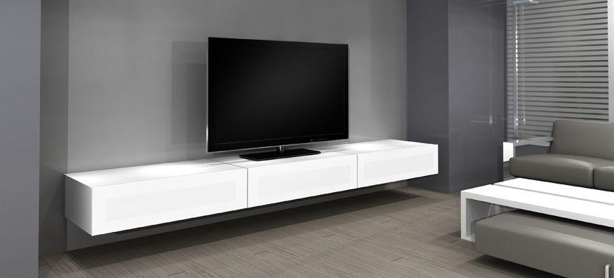 Norstone Khalm Mobilier De Salon Meuble Tv Suspendu Meuble Tv Design