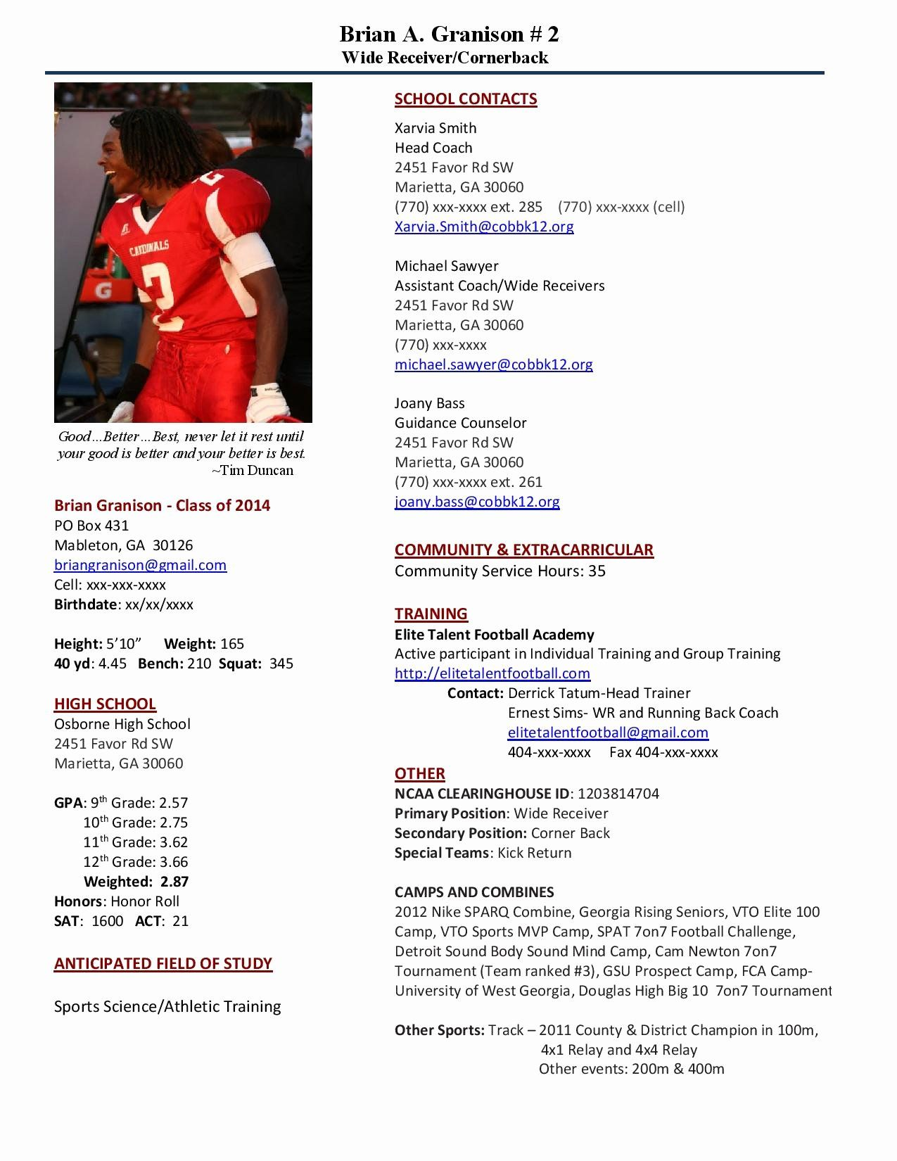 High School Coaching Resume Unique why Should I Recruit