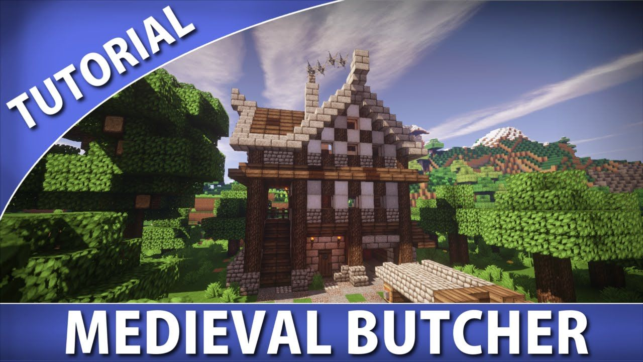 Minecraft Tutorials Medieval Butcher Minecraft Tutorial