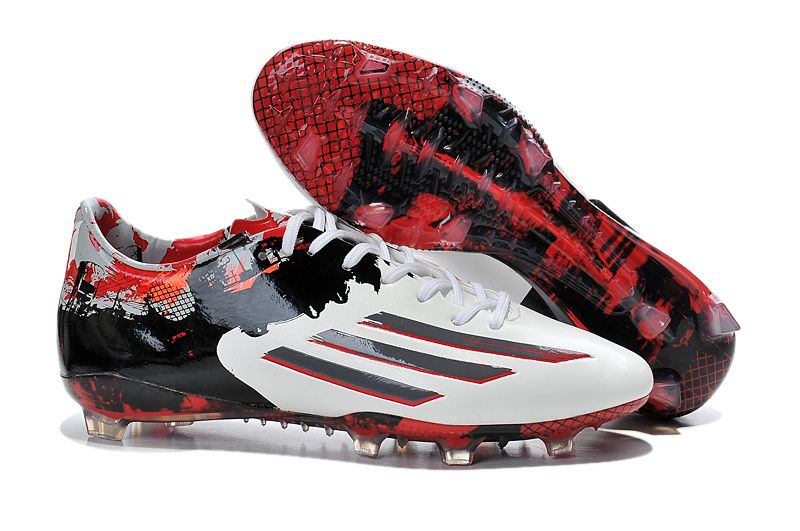 2015 Adidas Footabll Boots Messi Prime de Barr10 F50 adizero FG white red  black � SuperflyMessiCheap NikeRed ...