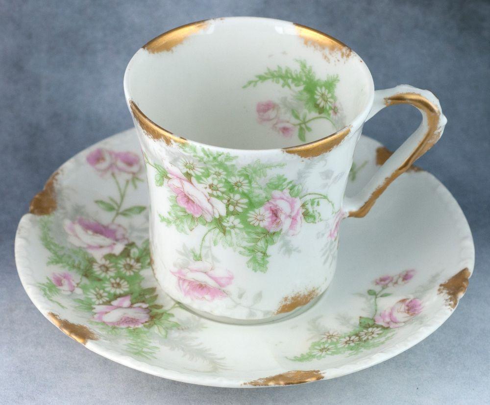 Antique Theodore Haviland Limoges France Roses Demitasse Tea Cup ...