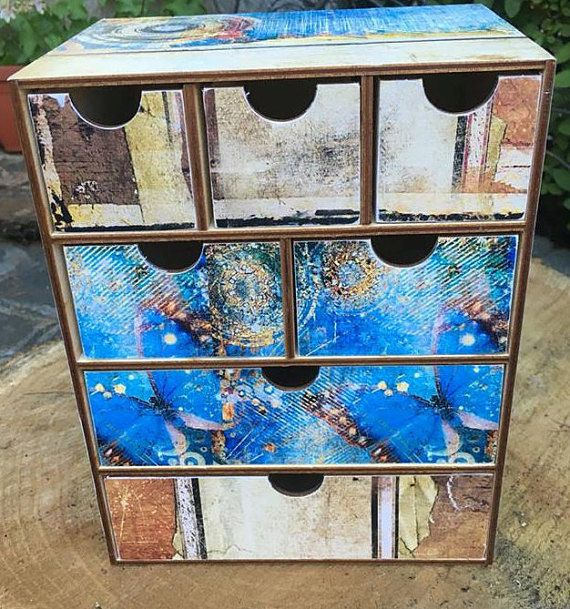Makeup Storage-Box-Chest. Butterfly Theme Chest of & Makeup Organizer Drawers Makeup Dressing table Storage Butterfly ...