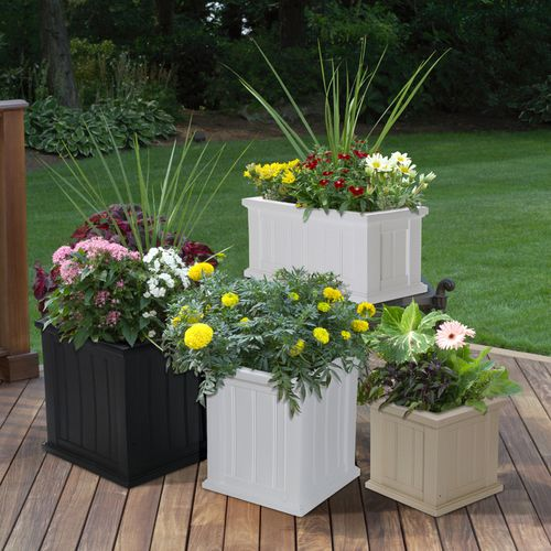 Cape Cod Square Planter Resin Plastic Planters Pinterest