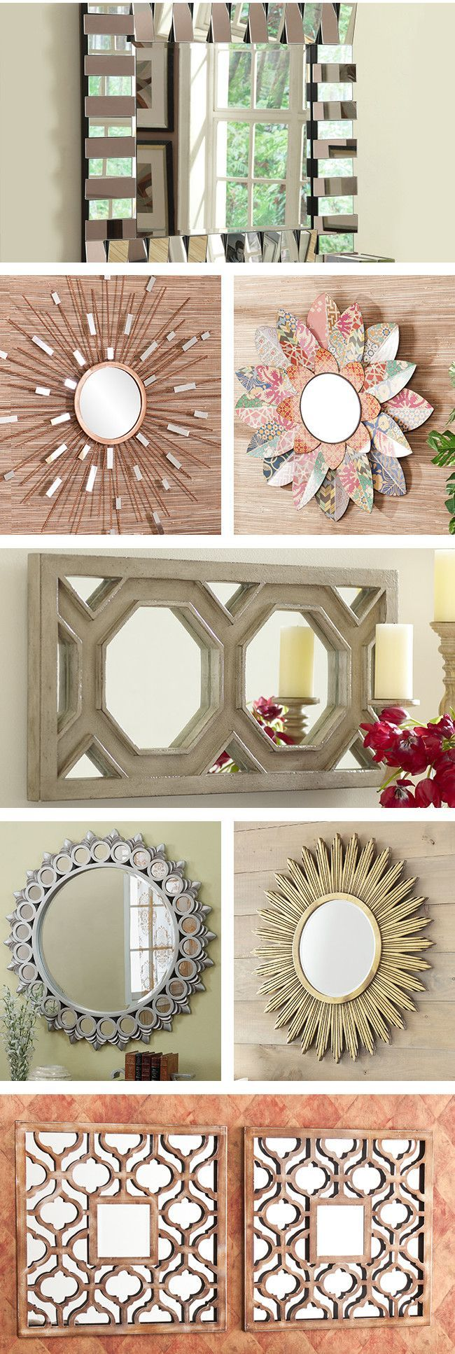 Unique Wall Unit For Drawing Room Homedecoration: Mirrors Can Help You Create A Unique Style For Your Home