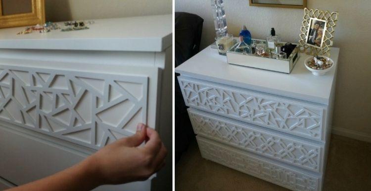 Ikea möbel umgestalten mit dekorativen elementen aus holz oder