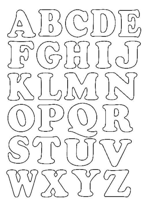 Letters Moldes De Letras Moldes De Letras Bonitas Plantillas De Letras
