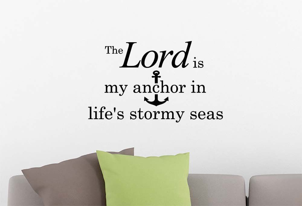 Wall Vinyl Decal The Lord is my anchor in life's stormy seas Anchor ocean beach starfish love cute inspirational family love vinyl quote saying wall art lettering sign room decor ** Learn more by visiting the image link. (This is an affiliate link) #WallSculptures