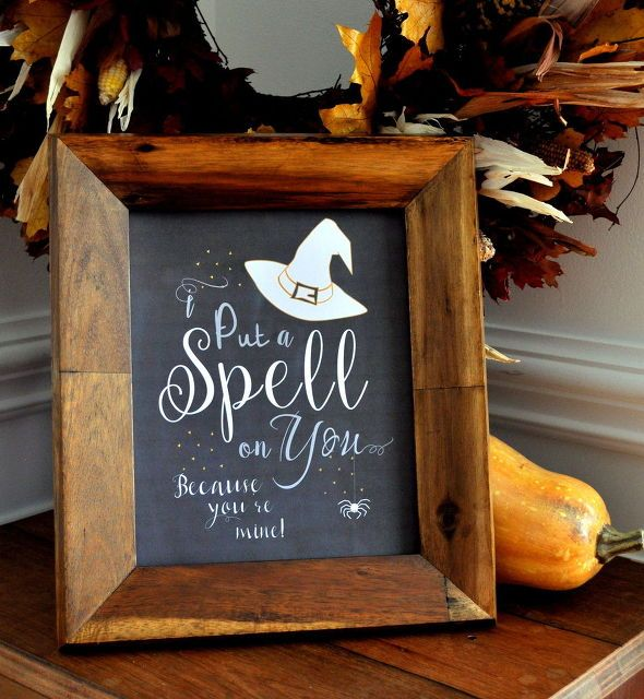 witch chalk art printables, crafts, seasonal holiday decor, wall - halloween do it yourself decorations