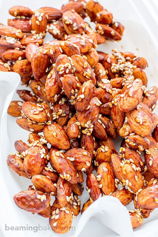 Maple Sesame Almonds V Gf An Easy Recipe For Skillet Roasted