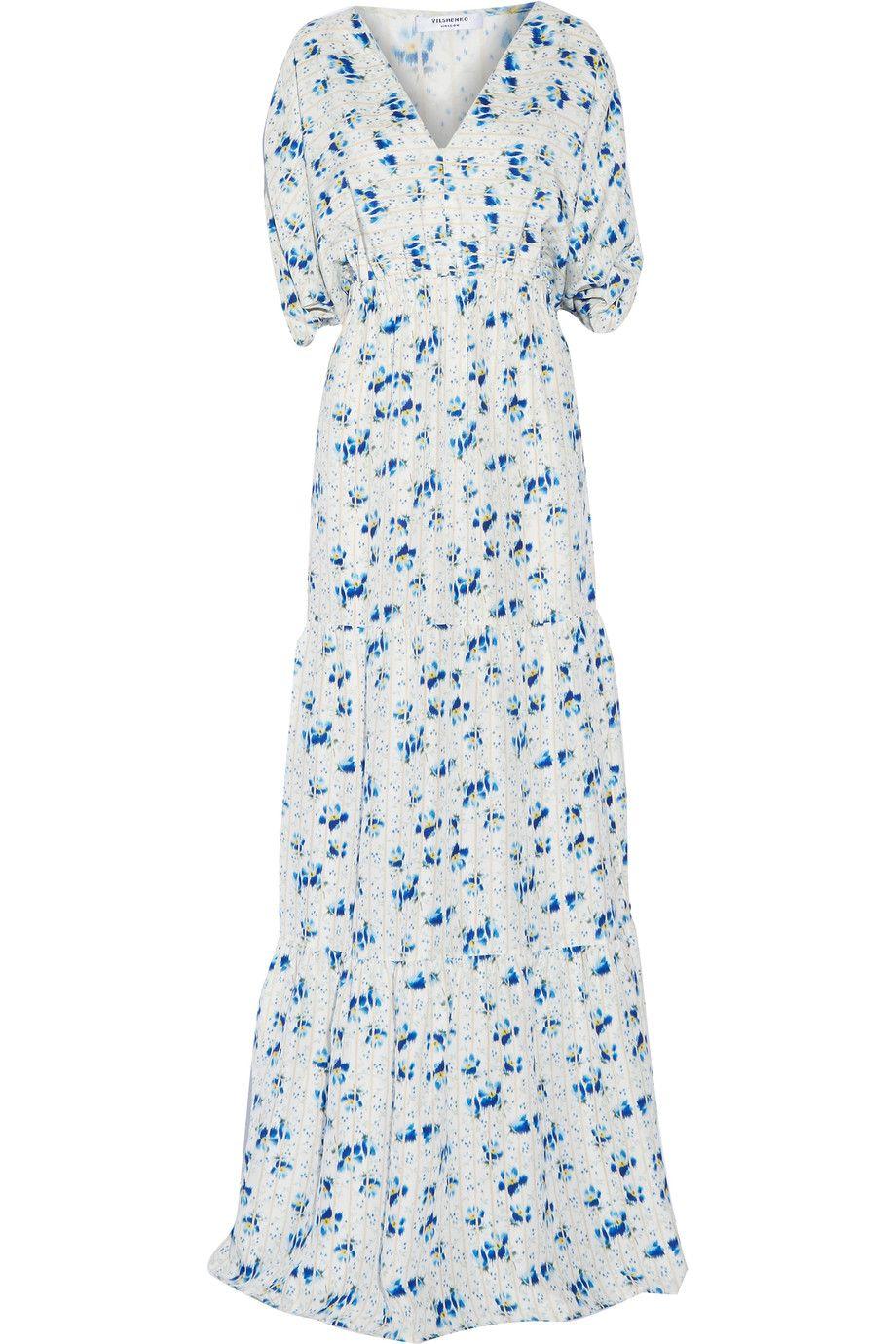 Vilshenko printed silkvoile maxi dress vilshenko cloth dress