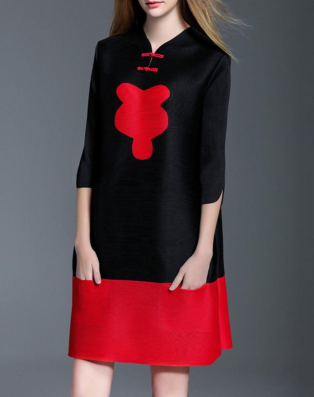 Adorewe daipya lovely casual sleeve v neck mini dress adorewe