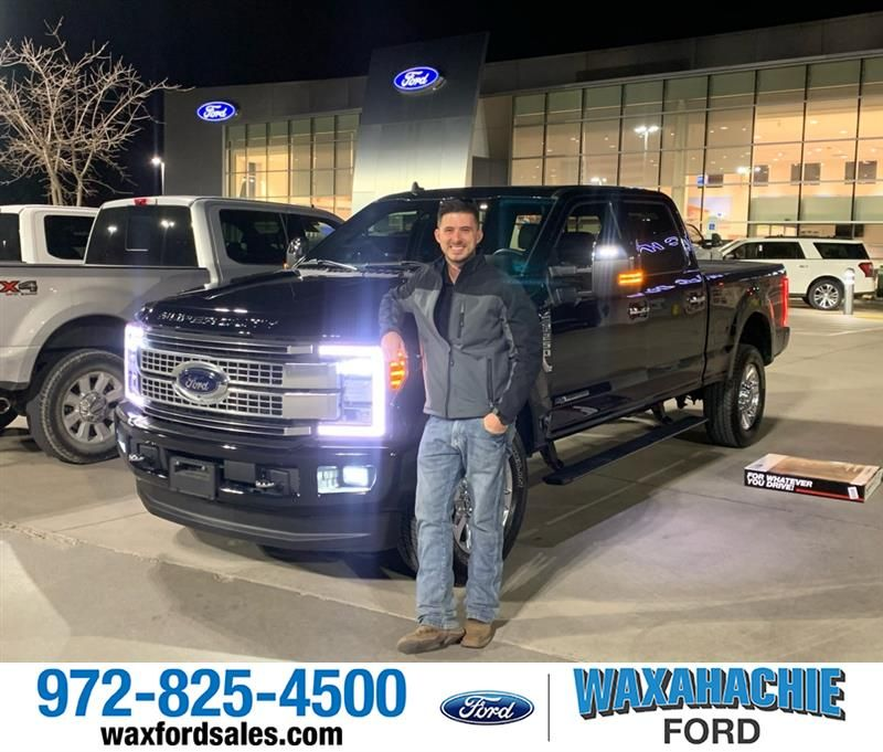 Congratulations Ryan on your Duty F-250 SRW from Casey Gonzales at Waxahachie Ford!