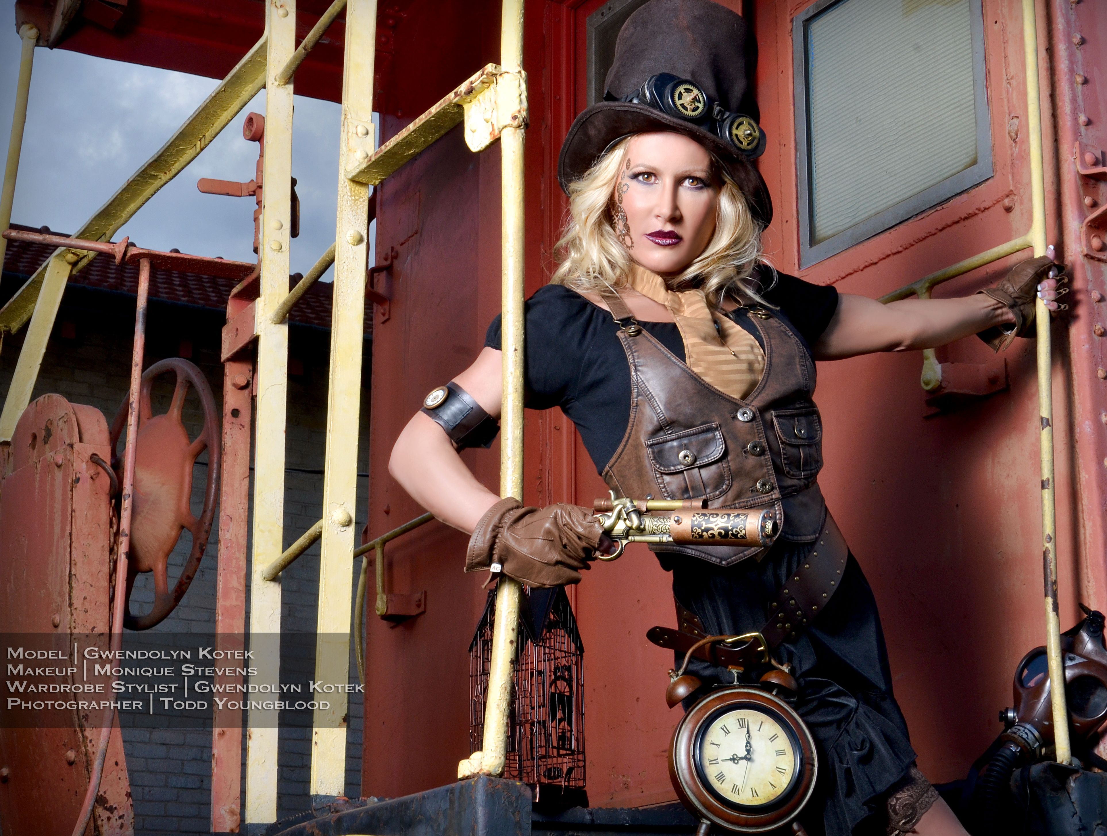 Steampunk Photoshoot Behind The Scene In