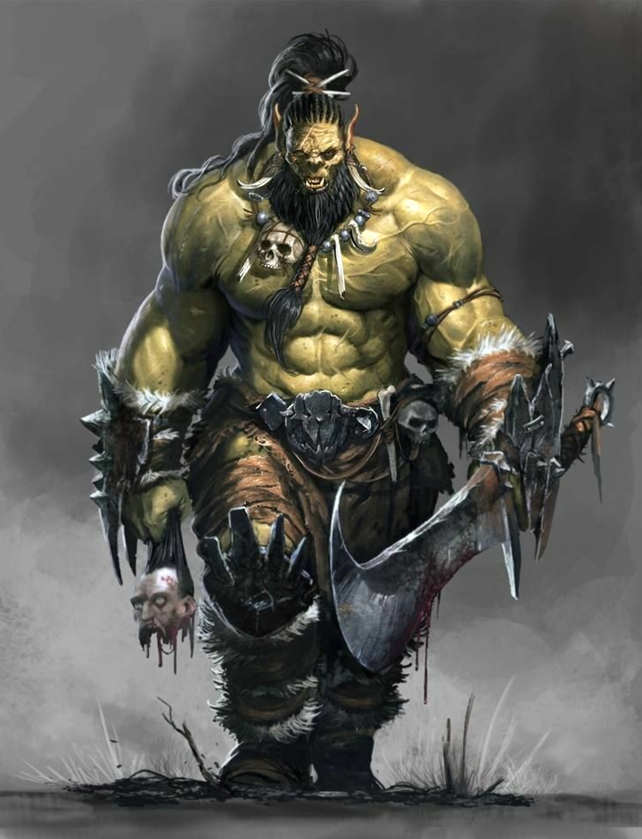 Male Orc Fighter or Ba...