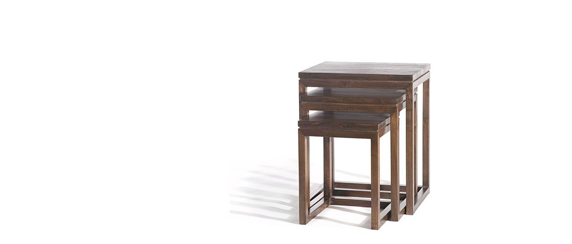 Rio Stacking Tables| Gingko Furniture 20w × 16.5d × 23.5h In (practical