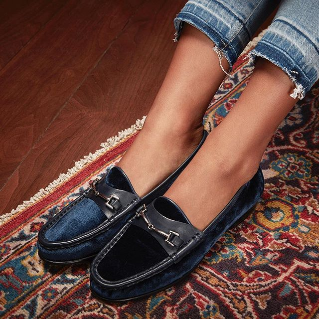 3ac6405a5bd7 Introducing our velvet Talia loafer