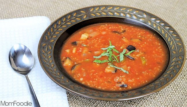 Ratatouille Soup With Quinoa Low Calorie Soup Recipe Soup