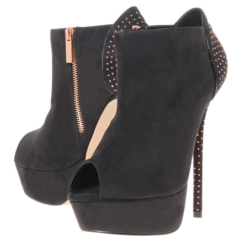 Buy Carvela Georgette Suedette Platform Stiletto Shoe Boots, Black online at JohnLewis.com - John Lewis