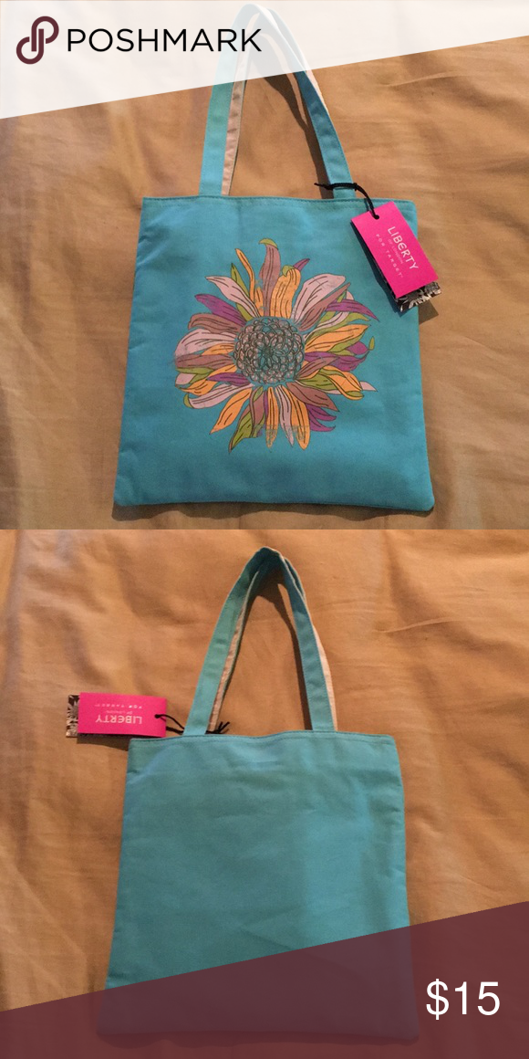 Nwt Liberty of London Sunflower mini tote purse Adorable