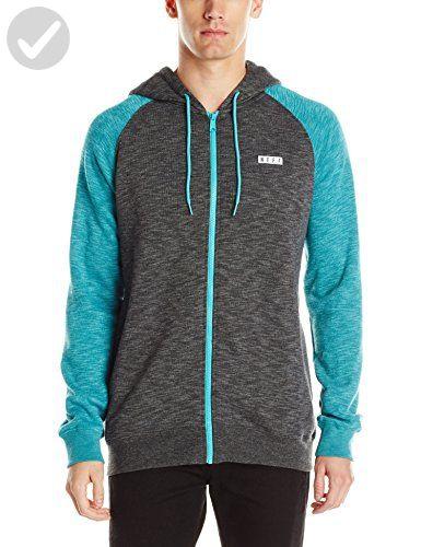 NEFF Mens Daily Zip Fleece Sweatshirt
