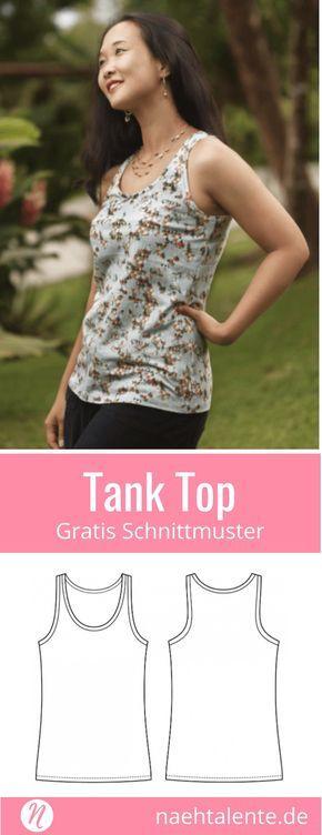 Tank Top für Damen | Gratis schnittmuster, Ausdrucken und Für damen